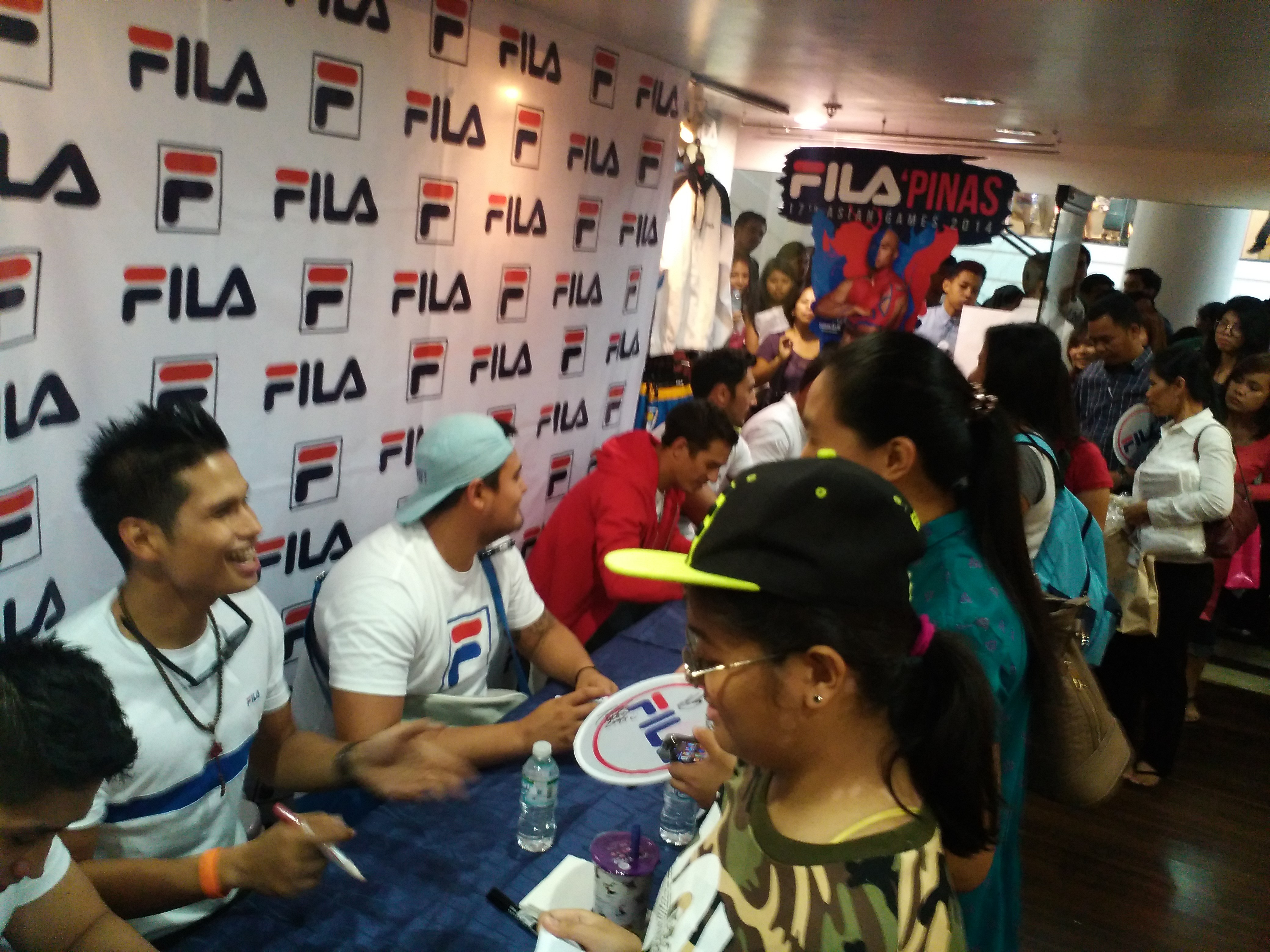 Meet and Greet, Philippine Rugby Team with Fabio Ide & Tessa Prieto Valdes at the FILA Store in ...