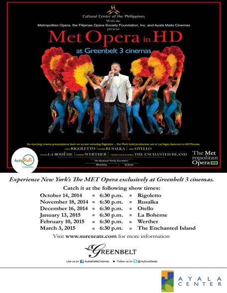 2014 MET Opera - schedule