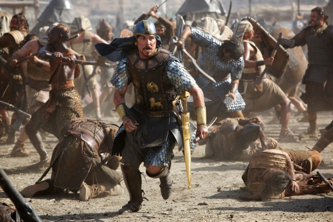 Christian Bale as Moses in EXODUS GODS & KINGS