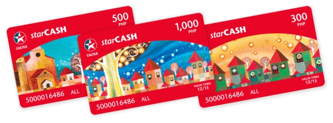 Christmas Starcash cards