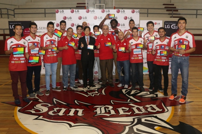 UAAP and NCAA champs embody LG G Pads Launch Your Life - San Beda