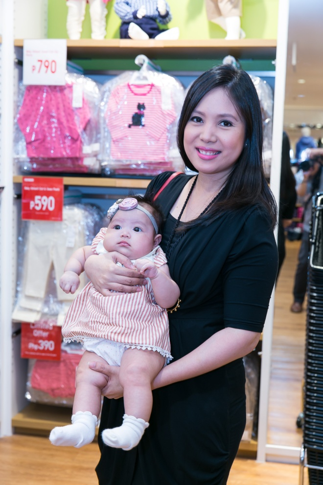 Uniqlo Nina Corpuz and baby