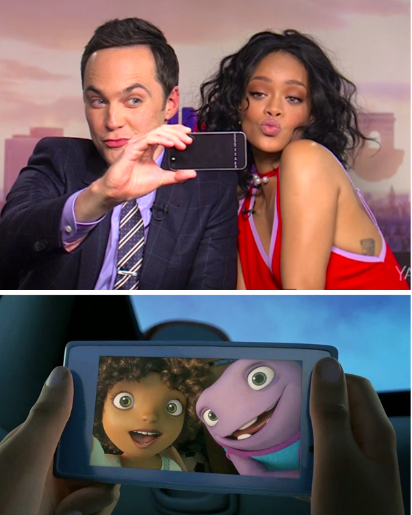 jim parsons and rihanna voice tip and oh in HOME