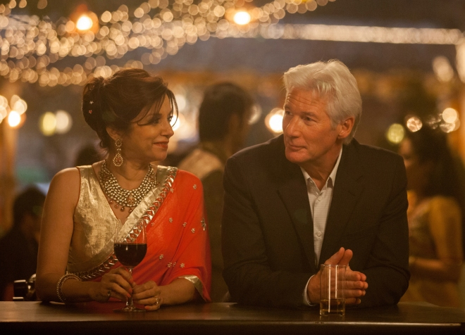 lillete dubey and richard gere SECOND BEST EXOTIC MARIGOLD HOTEL