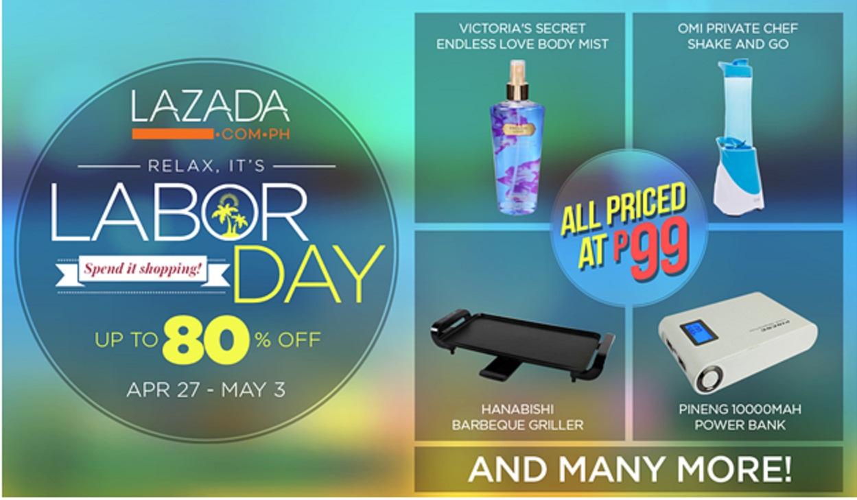 Lazada.com.ph celebrates Labor Day with P99 deals