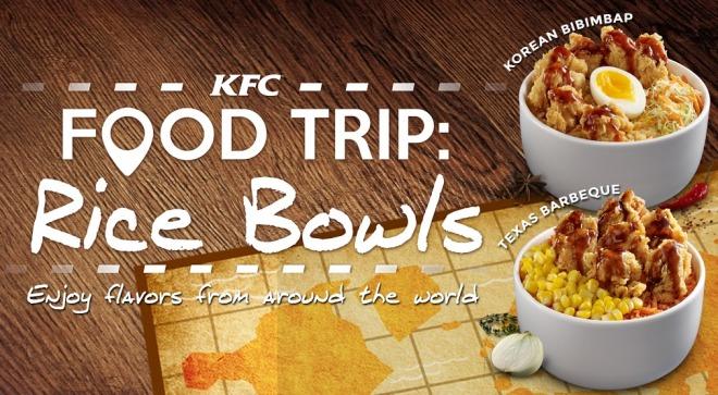 NEW KFC FOOD TRIP RICE BOWLS