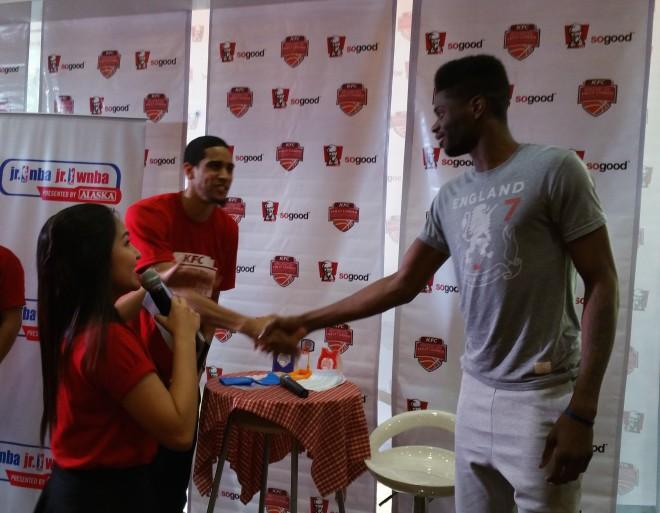Players handshake
