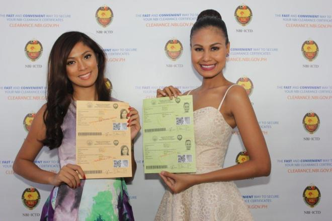 Ariella and Venus secured NBI clearance