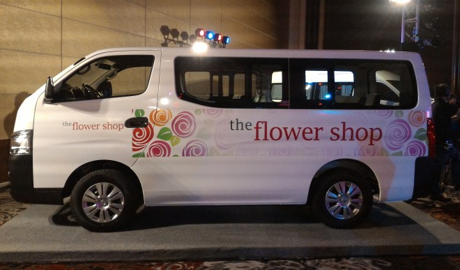 Nissan UrVan NV350 as flowershop