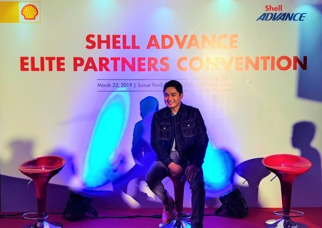 Coco Martin at Shell Advance Elite Partners convention