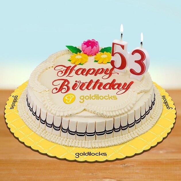 Goldilocks 53rd Anniversary cake