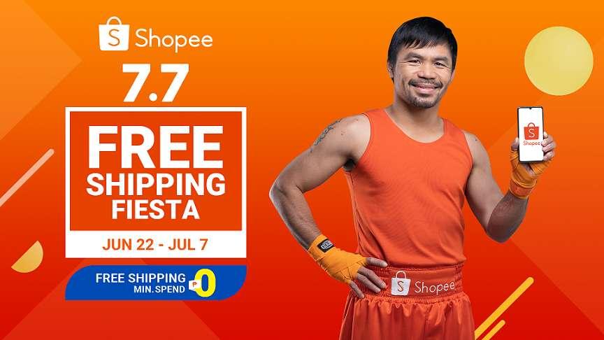 Shopee's 7.7 Free Shipping Fiesta